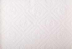 Textura do lenço de papel branco Fotos de Stock Royalty Free