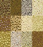 Textura do leopardo do fundo marrom Imagem de Stock