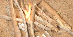 textura do lugar do fogo Imagem de Stock