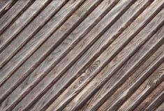 Textura do lwood de Diagona painéis velhos do fundo Fotos de Stock