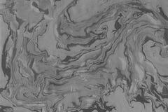 Textura do mármore de Suminagashi pintado à mão com cinza imagens de stock royalty free