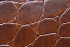 Textura do macro do couro de Brown foto de stock royalty free