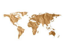 Textura do mapa do mundo Foto de Stock Royalty Free
