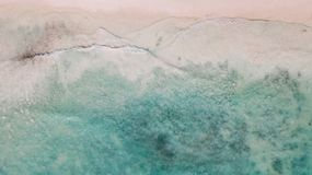 Textura do mar das caraíbas imagem de stock