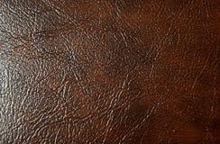 Textura do marrom de couro genuíno Fundo foto de stock royalty free
