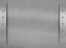 Textura do metal com beira e rebites Fotografia de Stock Royalty Free