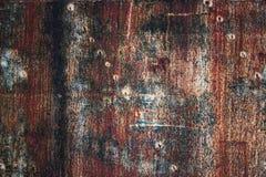 A textura do metal da oxidação, a chapa de aço revestiu com a corrosão Ir velho imagem de stock royalty free