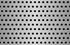 Textura do metal da perfuração Foto de Stock