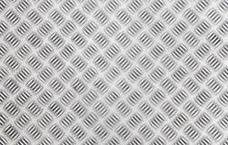 Textura do metal do Chequer Fotos de Stock Royalty Free