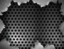 Textura do metal ou frame ou molde rachado Fotografia de Stock