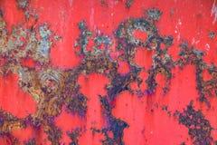 A textura do metal oxidado velho fotos de stock royalty free