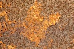 Textura do metal oxidado velho Metal de Brown Corrosão do metal imagem de stock