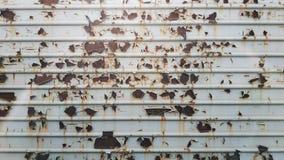 Textura do metal pintado e oxidado Fundo fotografia de stock