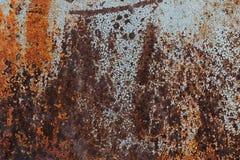 Textura do metal velho oxidado com corrosão Fundo sujo do ferro do estilo do Grunge imagem de stock