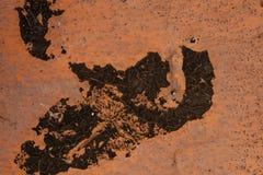 Textura do metal velho oxidado Fundo da corrosão suja do grunge do ferro imagem de stock