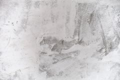 Textura do muro de cimento do close up com emplastro e pintura branca fotografia de stock