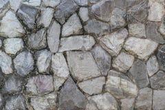 Textura do muro de cimento da rocha Foto de Stock
