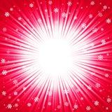 Textura do Natal com flocos de neve e raios de brilho ilustração stock
