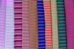 Textura do pano tailandês Fotografia de Stock