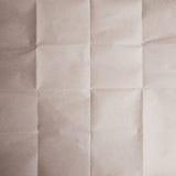 Textura do papel do vinco de Brown imagens de stock