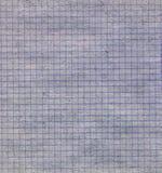Textura do papel esquadrado velho Fotografia de Stock