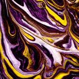 Textura do papel marmoreado Fundo feito a mão Cores cósmicas Contexto de mármore Fotografia de Stock Royalty Free