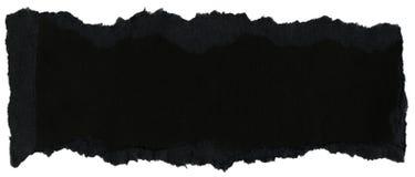 Textura de papel da fibra - preto com bordas rasgadas fotografia de stock royalty free