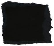 Textura de papel da fibra - preto com bordas rasgadas imagem de stock royalty free