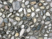Textura do pavimento dos seixos Fotos de Stock