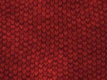 Textura do réptil - escalas do vermelho ilustração do vetor
