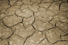 A textura do rachamento da terra O conceito de usar recursos naturais toning imagem de stock royalty free