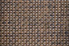 A textura do Rattan, detalhe handcraft o fundo de tecelagem da textura do bambu fotos de stock