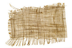 Textura do sackcloth Imagens de Stock Royalty Free