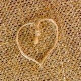 Textura do sackcloth Imagens de Stock