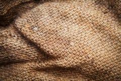 Textura do saco amarrotada Foto de Stock