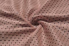 Textura do sportswear feita da fibra de poliéster O vestuário para a formação dos esportes tem uma textura da malha do fabri de n imagens de stock
