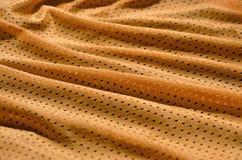 Textura do sportswear feita da fibra de poliéster O vestuário para a formação dos esportes tem uma textura da malha do fabri de n imagens de stock royalty free