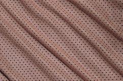 Textura do sportswear feita da fibra de poliéster O vestuário para a formação dos esportes tem uma textura da malha do fabri de n fotografia de stock royalty free