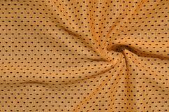 Textura do sportswear feita da fibra de poliéster O vestuário para a formação dos esportes tem uma textura da malha do fabri de n imagem de stock royalty free