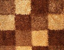 Textura do tapete dos quadrados Fotografia de Stock Royalty Free