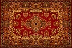 Textura do tapete persa Imagem de Stock