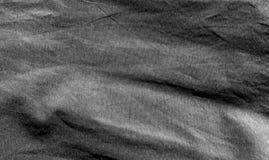 Textura do tecido de algodão em preto e branco Fotos de Stock