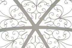 Textura do telhado da abóbada no branco isolado Foto de Stock