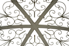 Textura do telhado da abóbada no branco isolado Imagem de Stock