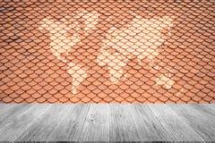 Textura do telhado de telha Foto de Stock Royalty Free