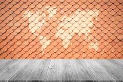 Textura do telhado de telha Imagens de Stock