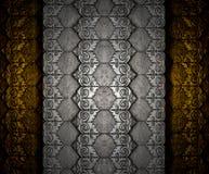 Textura do teste padrão da prata do onThai da folha de bronze Fotos de Stock