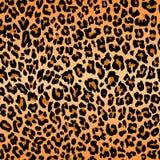 Textura do teste padrão do leopardo que repete a pele preta alaranjada sem emenda da cópia da pele ilustração do vetor