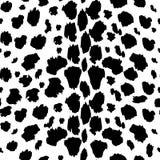 Textura do teste padrão do leopardo que repete preto e branco monocromático sem emenda Forma e fundo à moda ilustração stock