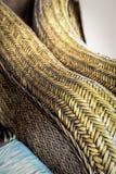 Textura do teste padrão do weave de Cane Furniture para o fundo do projeto imagens de stock